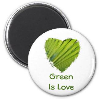 Green Heart, Green Is Love Magnet