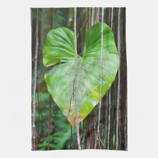 Green Heart Leaf Kitchen Towel