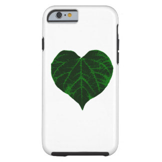 Green Heart Leaf Tough iPhone 6 Case