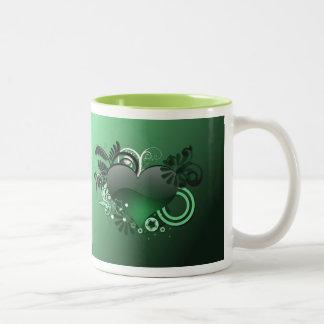green heart mug