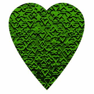 Green Heart. Patterned Heart Design. Photo Cutouts