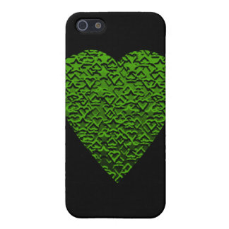 Green Heart. Perned Heart Design. iPhone 5 Cover