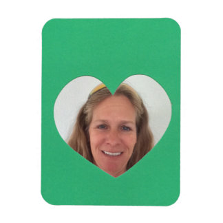 Green Heart Photo Frame Magnet