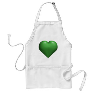Green Heart - Valentine's - St. Patrick's Day Apron