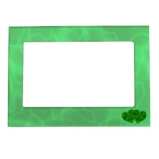 Green Heart with Shamrocks Magnetic Picture Frame