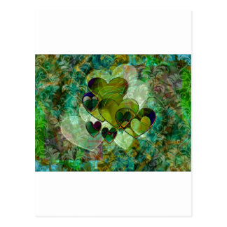 Green Hearts Postcard