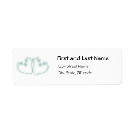 Green Hearts Return Address Label