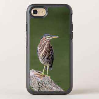 Green Heron on a log OtterBox Symmetry iPhone 8/7 Case