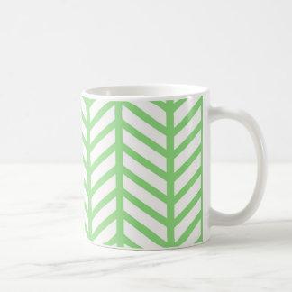 Green Herringbone Coffee Mug