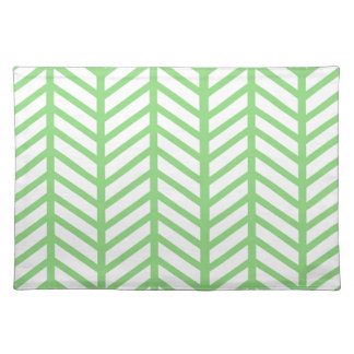Green Herringbone Placemats