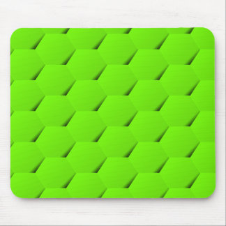 Green hexagon mouse pad
