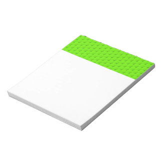 Green hexagon notepad