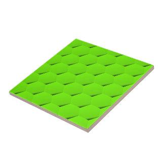 Green hexagon tile