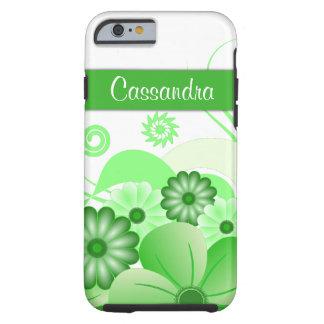 Green Hibiscus Floral Custom Tough iPhone 6 Cases Tough iPhone 6 Case
