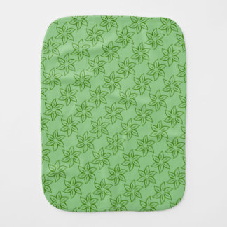 Green Hibiscus Floral Pattern Burp Cloth
