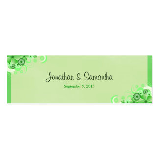 Green Hibiscus Floral Wedding Favor Favour Tags Pack Of Skinny Business Cards