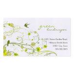 Green Hibiscus Swirls & Swallows Profile Card