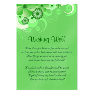 Green Hibiscus Wedding Wishing Well Cards Business Card Templates