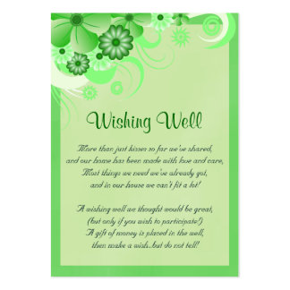 Green Hibiscus Wedding Wishing Well Cards Pack Of Chubby Business Cards