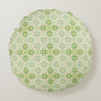 Green Hill and Dale Round Pillow