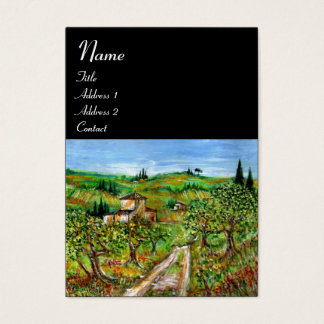 GREEN HILLS AND OLIVE TREES TUSCANY LANDSCAPE BUSINESS CARD