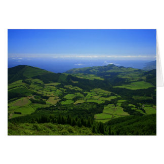 Green hills - Azores islands Greeting Card