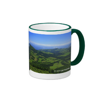 Green hills - Azores islands Ringer Mug