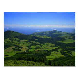 Green hills - Azores islands Postcard