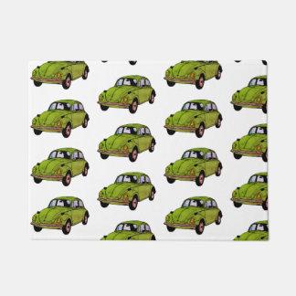 Green Hippie Car Door Mat