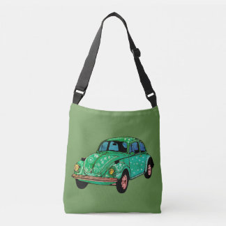 Green Hippie Car Mandala Tote