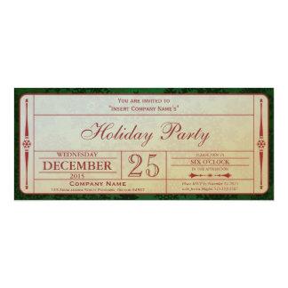 Green Holiday Company Party Invitation