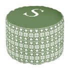 Green Holiday Nordic   Round Pouf