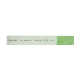 Green Holiday Paisely Wraparound Address Label