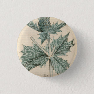 Green Holly 3 Cm Round Badge