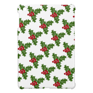 Green Holly Leaves With Red Berries iPad Mini Case