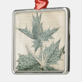 Green Holly Metal Ornament