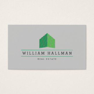 Green Home Logo Builder Real Estate Business Card