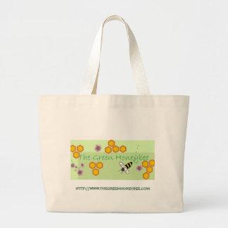 Green Honeybee Tote Bag