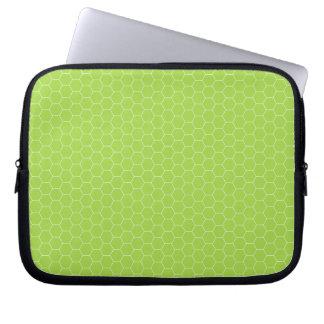 Green Honeycomb Electronics Bag Computer Sleeve