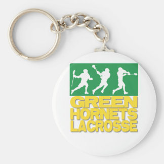 Green Hornets Lacrosse Basic Round Button Key Ring