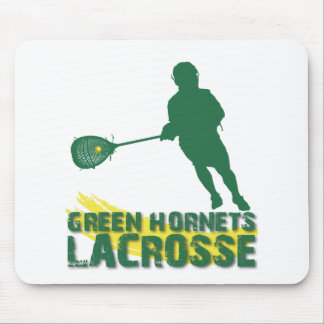 Green Hornets Lacrosse Mouse Pad