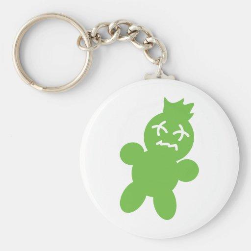 green horror doll icon key chain