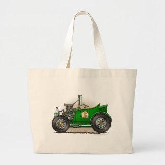 Green Hot Rod Car Bags/Totes Jumbo Tote Bag