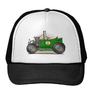 Green Hot Rod Car Hats