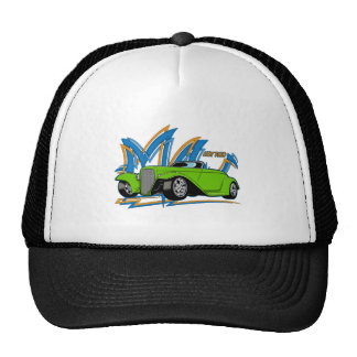 Green Hot Rod Hat