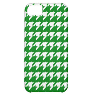 Green houndstooth pattern iPhone 5C case