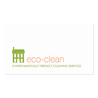 Green House Logo Natural Cleaning Services Pack Of Standard Business Cards