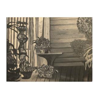 Green House Porch Wood Prints