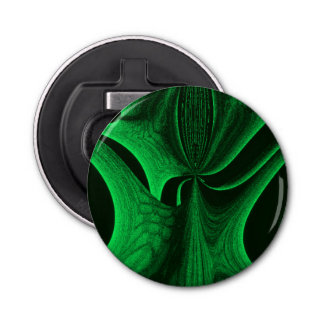 Green Hunter Fractal Bottle Opener