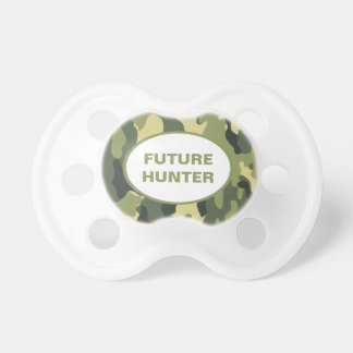 Green Hunters Camouflage Pacifier YOUR NAME